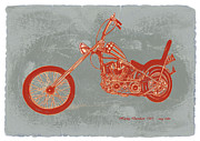 Charcoal Car Posters -  Motorcycle Art Sketch Poster Poster by Kim Wang