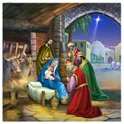 Nativity Paintings -  Nativity of Jesus by ArtHouseDesign