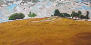 Francois Fournier Paintings -  Over The Golden Field by Francois Fournier