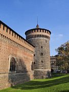 Old Milano Photos -  Sforzesco Castle in Milan by Karol Kozlowski