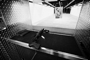 Practicing Framed Prints - 12 Gauge Assault Tactical Shotgun At A Gun Range In Las Vegas Nevada Usa Framed Print by Joe Fox