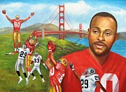 49ers Painting Prints - 127th Touchdown Print by Dominic Giglio