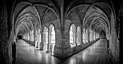Travel Sightseeing Prints - 13th century Gothic Cloister Print by Lusoimages  