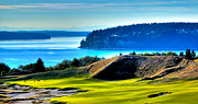 Us Open Posters - #14 at Chambers Bay Golf Course - Location of the 2015 U.S. Open Tournament Poster by David Patterson