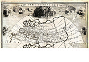 Old Map Paintings - 1700 Cellarius Map of Asia Europe and Africa according to Strabo Geographicus OrbisClimata cellarius by MotionAge Art and Design - Ahmet Asar