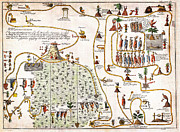 Old Map Paintings - 1704 Gemelli Map of the Aztec Migration from Aztlan to Chapultapec Geographicus AztecMigration gemel by MotionAge Art and Design - Ahmet Asar
