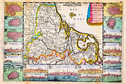 Vintage Map Paintings - 1710 De La Feuille Map of the Netherlands Belgium and Luxembourg Geographicus 17Provinces laveuille  by MotionAge Art and Design - Ahmet Asar