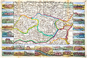 Vintage Map Paintings - 1710 De La Feuille Map of Transylvania Moldova Geographicus Transylvania leafeuille 1710 by MotionAge Art and Design - Ahmet Asar