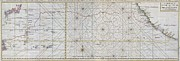 Nautical Chart Photos - 1748 Seale Map of the Pacific Ocean Trade Routes from Acapulco to Manila by Paul Fearn