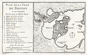 Correspond With Posters - 1756 Bellin Map of Boston Massachusetts Poster by Paul Fearn