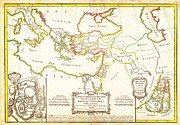 Old Map Paintings - 1771 Bonne Map of the New Testament Lands w Holy Land and Jerusalem Geographicus NewTestament bonne  by MotionAge Art and Design - Ahmet Asar