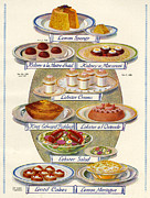 Magazine Plate Drawings - 1920s Uk Food Magazine Plate by The Advertising Archives