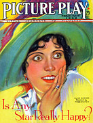 Play Drawings Prints - 1920s Usa Picture Play Magazine Cover Print by The Advertising Archives