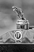 Black And White Photos Photos - 1924 Isotta-Fraschini Tipo 8 Torpedo Phaeton Hood Ornament by Jill Reger