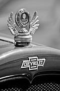 1928 Chevrolet Stake Bed Pickup Hood Ornament Print by Jill Reger