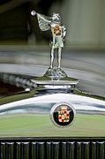 Car Photos Prints - 1929 Cadillac 1183 Dual Cowl Phaeton Hood Ornament Print by Jill Reger