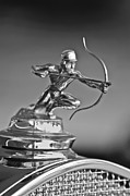 Collector Hood Ornament Metal Prints - 1930 Pierce-Arrow Model A Convertible Hood Ornament Metal Print by Jill Reger