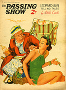 Beaches Drawings Posters - 1930s Uk The Passing Show Magazine Cover Poster by The Advertising Archives