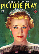 Jewellery Prints - 1930s Usa Picture Play Magazine Cover Print by The Advertising Archives