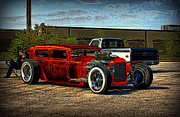 Model A Sedan Posters - 1931 Ford Model A  Sedan Hot Rod Poster by Tim McCullough