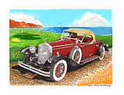 Playing Golf Framed Prints - 1931 Rolls Royce Henley Roadster Framed Print by Jack Pumphrey