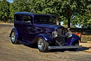 Ford Sedan Prints - 1932 Ford Sedan Hot Rod Print by Tim McCullough
