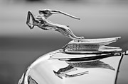 Dual Posters - 1933 Chrysler CL Imperial Custom Dual Windshield Phaeton Hood Ornament Poster by Jill Reger