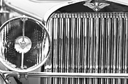 Beach Photographs Prints - 1933 Hispano-Suiza J12 Vanvooren Coupe Grille Emblem Print by Jill Reger