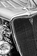 Deluxe Prints - 1934 Ford Deluxe Hot Rod Grille Emblem Print by Jill Reger