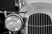 Supercharged Prints - 1934 MG PA Midget Supercharged Special Speedster Grille Print by Jill Reger
