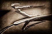 Collector Hood Ornament Metal Prints - 1935 Auburn Hood Ornament Metal Print by Jill Reger