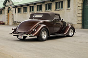 American Muscle Car Prints - 1935 Ford Cabriolet Print by Sanely Great