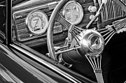 Steering Framed Prints - 1936 Auburn Speedster Replica Steering Wheel Framed Print by Jill Reger