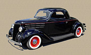 1936 Ford 3 Window Coupe Print by Jack Pumphrey