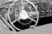Sc Framed Prints - 1937 Cord SC Cabriolet Steering Wheel Framed Print by Jill Reger
