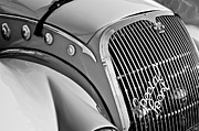 Mat Prints - 1937 Peugeot 402 Darlmat Legere Special Sport Roadster Recreation Grille Emblem Print by Jill Reger