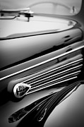 1938 Prints - 1938 Lincoln-Zephyr Convertible Coupe Side Emblem Print by Jill Reger