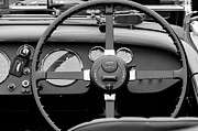 Beach Photographs Prints - 1939 Aston Martin 15-98 Abbey Coachworks SWB Sports Steering Wheel Print by Jill Reger