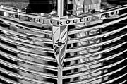 1939 Framed Prints - 1939 Chevrolet Coupe Grille Emblem  Framed Print by Jill Reger