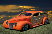 Woody Wagon Photos - 1939 Ford Surf Wagon by Dave Koontz
