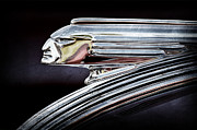 Collector Hood Ornament Metal Prints - 1939 Pontiac Silver Streak Chief Hood Ornament Metal Print by Jill Reger