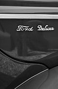 Old Photos Framed Prints - 1940 Ford Deluxe Coupe Emblem Framed Print by Jill Reger