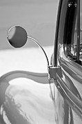 Old Photos Framed Prints - 1940 Ford Deluxe Coupe Rear View Mirror Framed Print by Jill Reger
