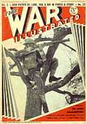 1940s Drawings Framed Prints - 1940s Uk The War Illustrated Magazine Framed Print by The Advertising Archives