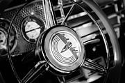 Steering Prints - 1941 Buick Eight Special Steering Wheel Emblem Print by Jill Reger