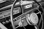 1941 Prints - 1941 Packard Steering Wheel Print by Jill Reger