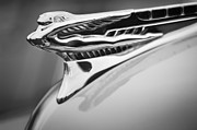 Hood Ornament Prints - 1946 DeSoto Hood Ornament Print by Jill Reger