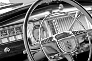 1948 Prints - 1948 Dodge Steering Wheel Print by Jill Reger