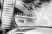 Chevy 3100 Framed Prints - 1949 Chevrolet 3100 Pickup Truck Emblem Framed Print by Jill Reger