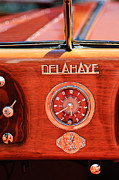 Dash Framed Prints - 1949 Delahaye 175 S Cabriolet Dandy Dash Board Emblem - Clock Framed Print by Jill Reger